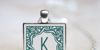 Square Monogram Frames Font accessory locket