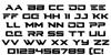 Cyberdyne Font Letters Charmap