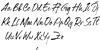 Hillstone Font Letters Charmap