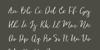 Vingiloth Font handwriting text
