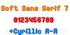 Soft Sans Serif 7 Font design graphic