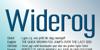 Wideroy Font screenshot design