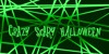 crAZYSCARYhalLowEeN Font design green