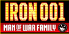 IRON MAN OF WAR Font design graphic