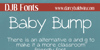 DJB BABY BUMP Font text book