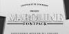 Maroline Font design poster