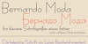 Bernardo Moda Font handwriting typography