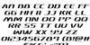 Sky Marshal Italic Font Letters Charmap