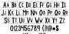 KG Modern Monogram Font Letters Charmap