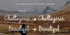 Chattagirie Font text