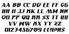 Eternal Knight Italic Font Letters Charmap