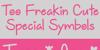 Too Freakin Cute Demo Font handwriting text