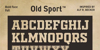 OLD SPORT ATHLETIC Font poster