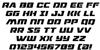 Drone Tracker Italic Font Letters Charmap