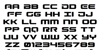 Gunship Font Letters Charmap