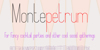 Montepetrum Font text handwriting