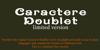 CaractereDoublet Font design screenshot