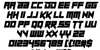 Sheeping Cats Font Letters Charmap