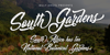 South Gardens Personal Use Font text