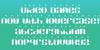 Video Dames Font design screenshot