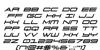 911 Porscha Italic Font Letters Charmap