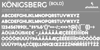 Königsberg Font design font
