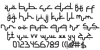 Selamet Lebaran Font Letters Charmap