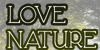 Love Nature Font poster