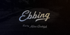 Ebbing PERSONAL USE ONLY Font handwriting text