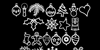 Xmasbats St Font design drawing