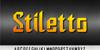 Stiletto Font text design