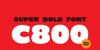 C800 Font text