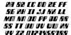 Zyborgs Italic Font Letters Charmap