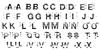 Bams Glitch V2 Demo Regular Font Letters Charmap
