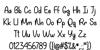 My Happy Ending Regular Font Letters Charmap