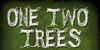 CF One Two Trees Font design drawing