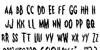 Monsterama Regular Font Letters Charmap