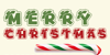 Merry Christmas Font poster