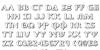 Aegis 3D Font Letters Charmap