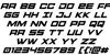Montroc Super-Italic Font Letters Charmap