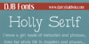 DJB Holly Serif Font text screenshot