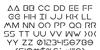Earth Orbiter Font Letters Charmap
