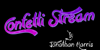 Confetti Stream Font design graphic