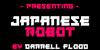 Japanese Robot Font poster