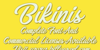 Bikinis Personal Use Font text typography