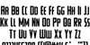 Watchtower Font Letters Charmap