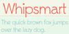 Whipsmart Font design screenshot