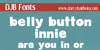 DJB BellyButton-Innie Font text