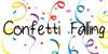 ConfettiFalling Font design cartoon