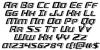 Grease Gun Italic Font Letters Charmap